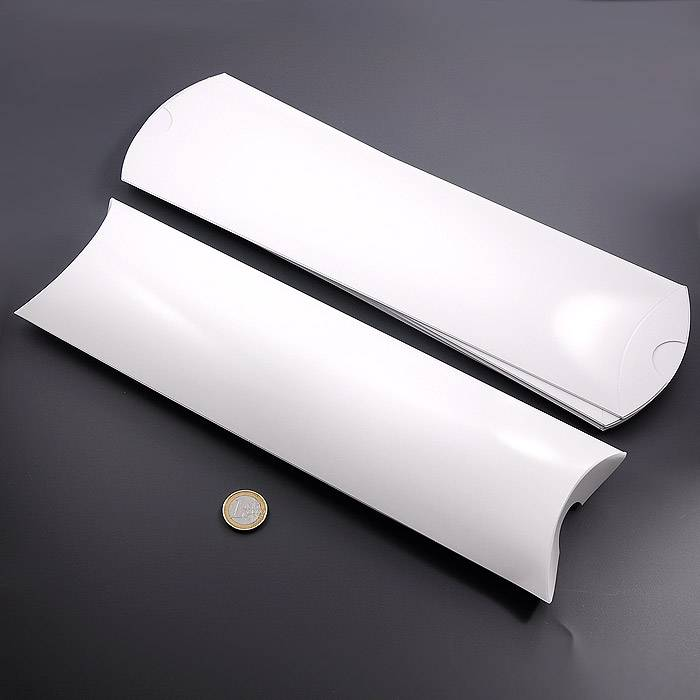 25 Kissenschachteln, blanko - weiß-glänzend, 30 x 9,5 cm Bild 1
