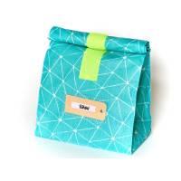 Lunchbag, Badetasche groß, türkis, gelb, wasserabweisend mit Futter Bild 1