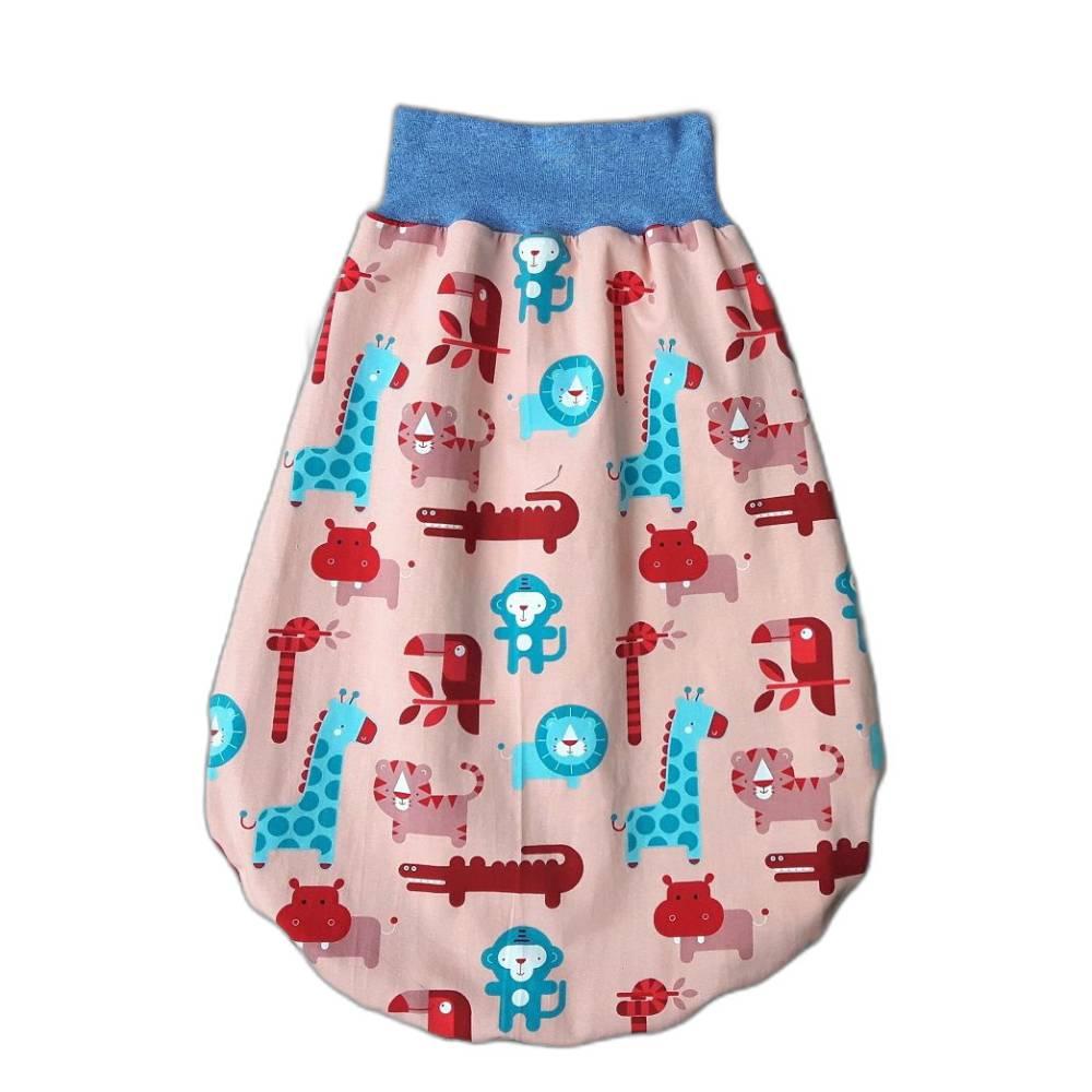 Baby Strampelsack wendbar - viele bunte Spieltierchen - aus hochwertigem Jersey Bild 1