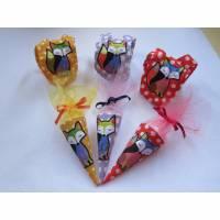 Puppen Rucksack und Schultüte, Schulanfang, Puppen Fuchs Rucksack, Puppen Schultüte in verschiedene Farben Bild 1