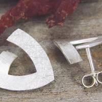 Ohrstecker Silber 925/-, Triangel 15 mm, mattgekratzt Bild 4