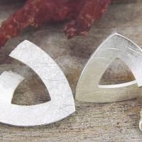 Ohrstecker Silber 925/-, Triangel 15 mm, mattgekratzt Bild 5