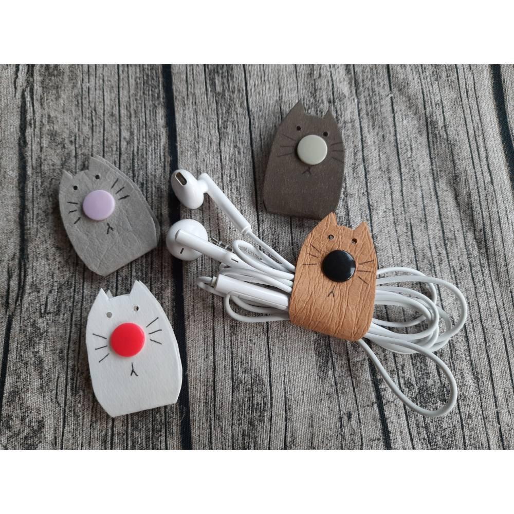 Kopfhörer-Katze / Aufbewahrung für Kopfhörer ohne Verknoten Bild 1