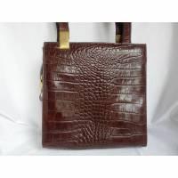 Lederhandtasche - braun - aus Italien - 80er Jahre  - von alte Schätze Bild 1