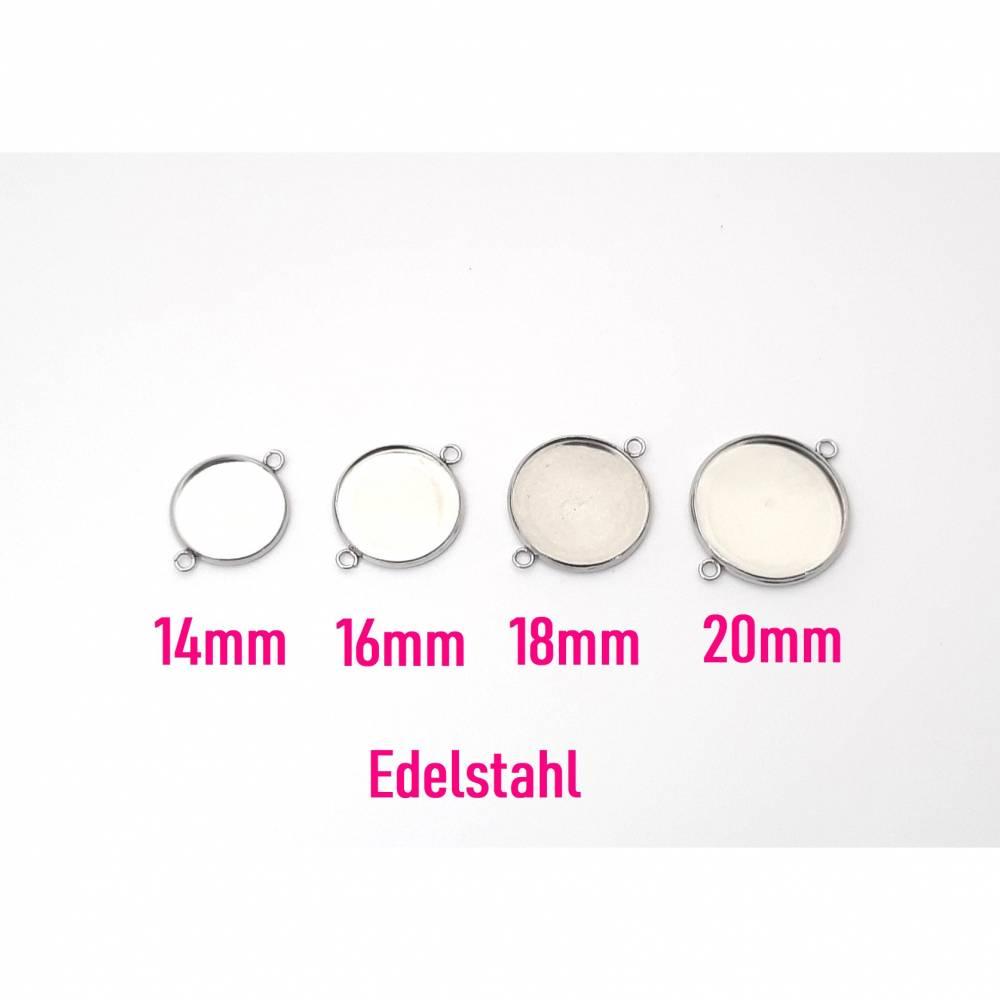 10 x Schmuckverbinder aus Edelstahl 14mm, 16mm, 18mm oder 20mm Bild 1