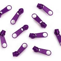 Reißverschluss-Meterware 5 mm inkl. 3 Zipper lila endlos-Reissverschluss Bild 2