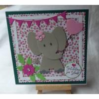 Glückwunschkarte,Geburt,Mädchen,Junge, Bild 1