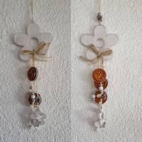 Blumen Deko Hänger * verschieden Farben * Upcycling Bild 1