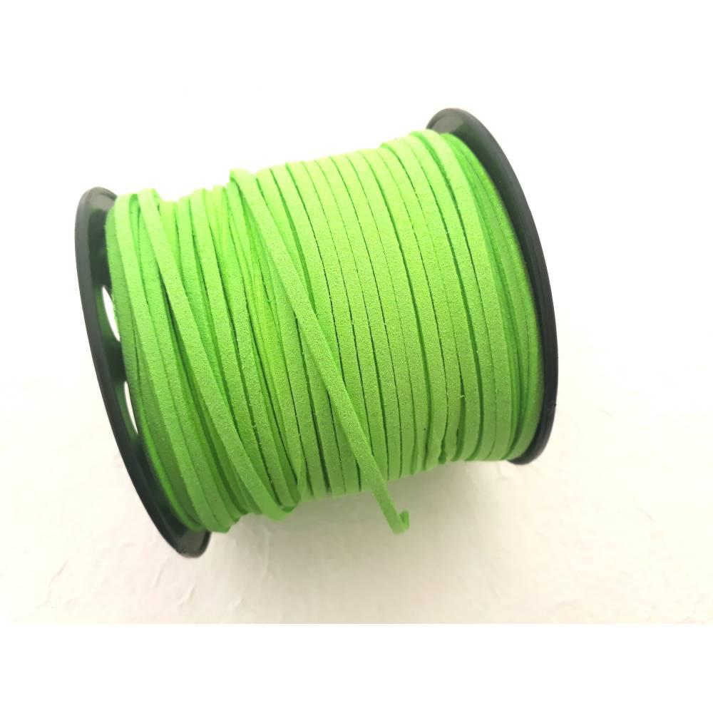 Veloursleder 3mm  *  1 Meter  *  Grün Bild 1