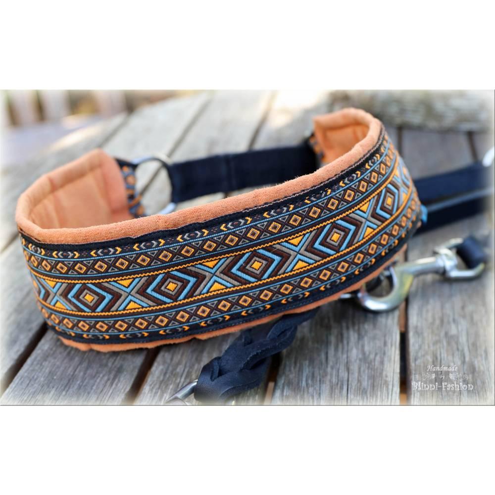 Halsband 55mm breit mit Zugstopp für Hunde, Hundehalsband für den großen Hund wie Ridgeback, Dogge oder Weimaraner Bild 1