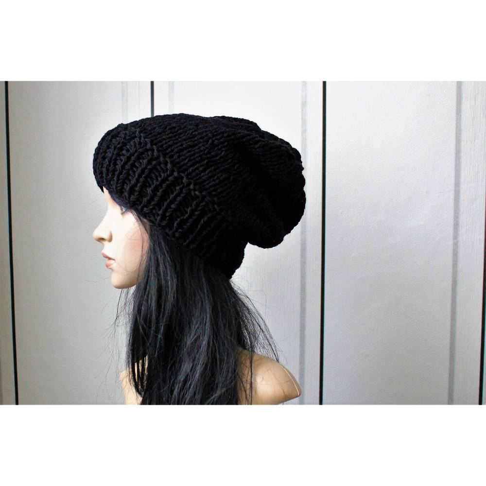 "Black "" Long  Beanie ""  Unisex! Bild 1"