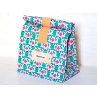 Lunchbag groß, grüne Frösche, Badetasche wasserabweisend mit Innenfutter Bild 1
