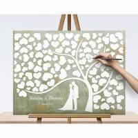 Hochzeitsgeschenk Vintage, Shabby Chic Gästebuch, Hochzeitsbaum Wedding tree Bild 1