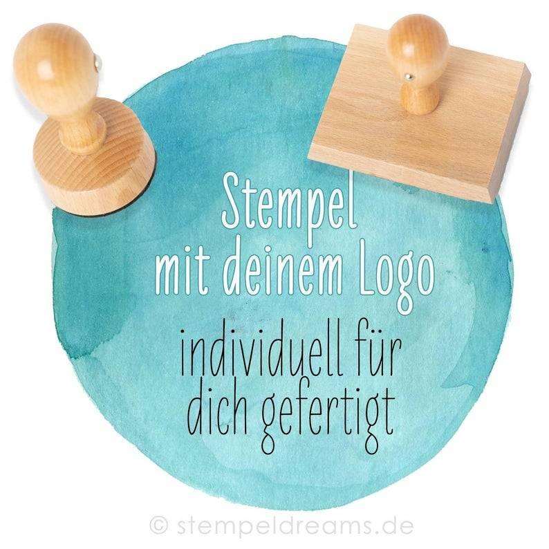 Logostempel - individuell für dich gefertigt - nach eigener Vorlage - Hochzeitslogo - verschiedene Größen - Eigenes Design - Motiv: 384 Bild 1