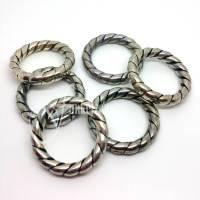 JOLINA   Ringe   ohne Loch   Ø 36 mm    Metallic Look   altsilber farbig   6 Stück   #510098 Bild 1