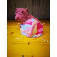 Behelfsmaske, Gesichtsmaske Tarnfleck pink rosa, Nasen-Mund-Bedeckung , Maske, snutenpulli, camouflage Bild 1