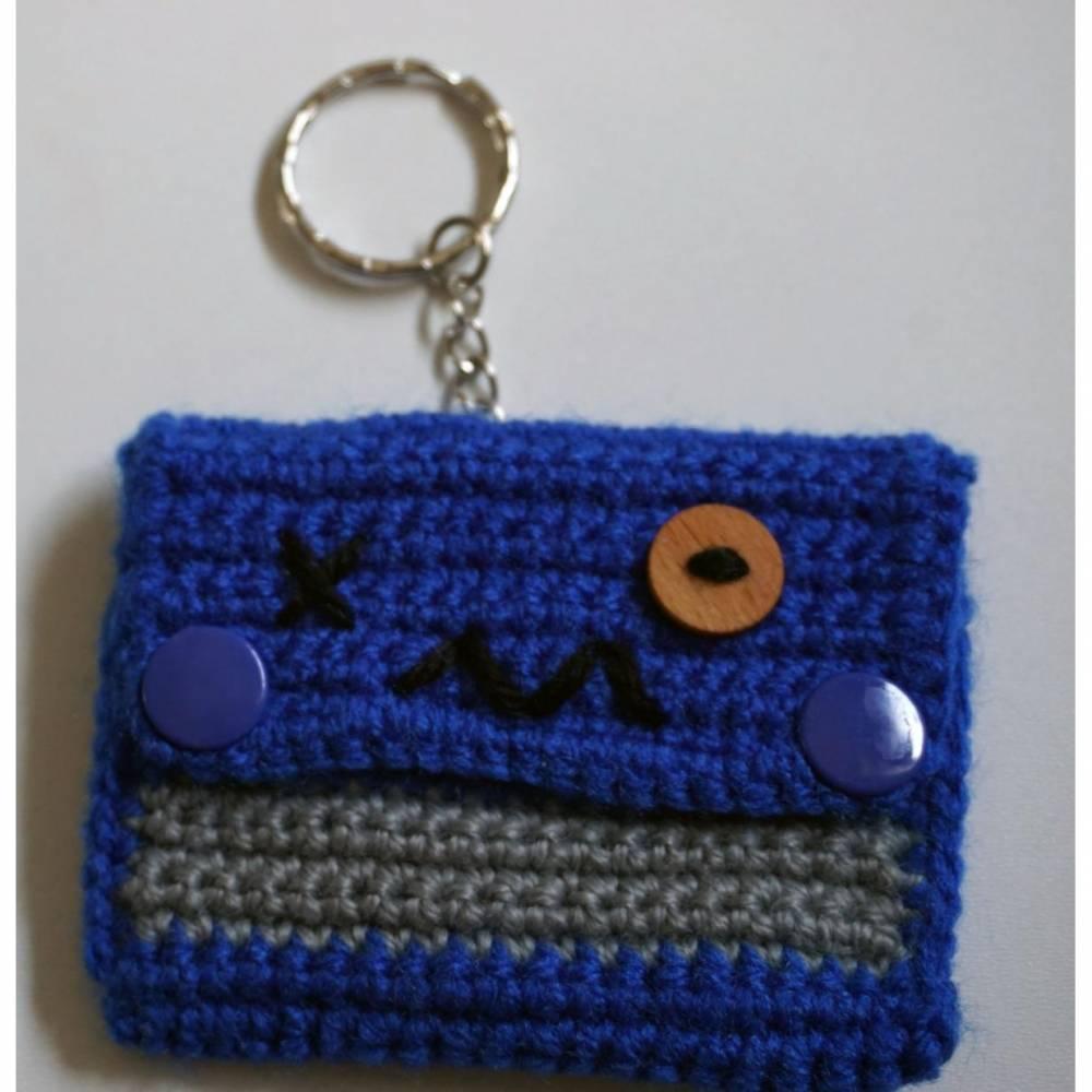 Amigurumi Schlüsselanhänger Tasche Monster  amigoll9  Deko  Handarbeit  Bild 1