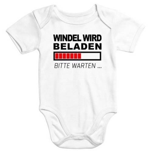 Baby Body kurzarm mit mehrfarbigen Print