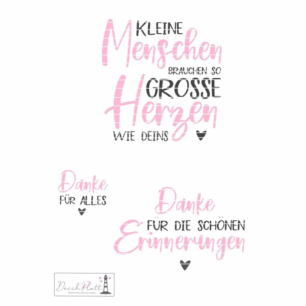 """Plotterdatei """"Kleine Menschen"""", Danke, Erzieherin, Tagesmutter, Kindergarten Bild 1"""