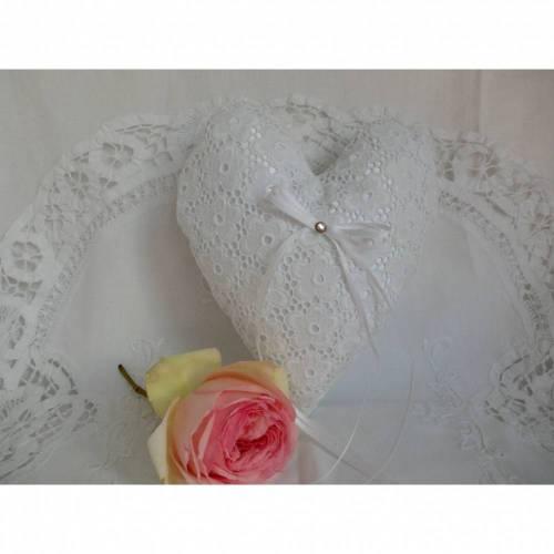 Hochzeit - Ringkissen in Herzform - für den schönsten Tag - genäht von Patchwerk