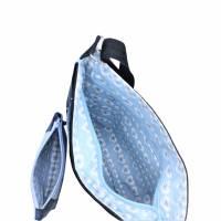 """❤ """"Dora"""" - Taschen-Set mit aufwendiger Patcharbeit, in blau Bild 5"""