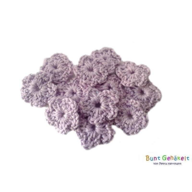 Häkelblümchen Blume Häkelapplikation Aufnäher Häkelblumen gehäkelte Blumen Bild 1
