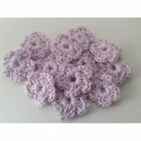 Häkelblümchen Blume Häkelapplikation Aufnäher Häkelblumen gehäkelte Blumen Bild 2