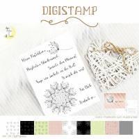 Pusteblume Digistamp mit Digipapieren und Sprüchen Bild 1