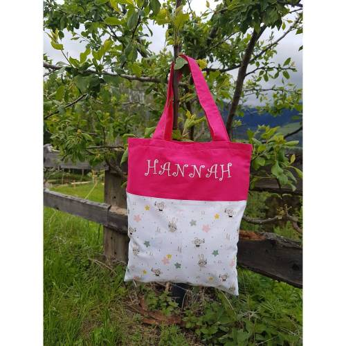 Tasche für Kinder, Einkaufstasche, Stoffbeutel, Geschenkverpackung mit Namen