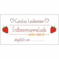 Individuelle Aufkleber für Erdbeer-Marmelade 24 Stück  | Personalisiert Bild 1