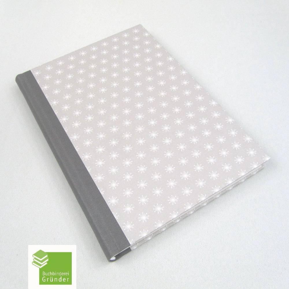 Notizbuch, hell-grau, A5, dezent, handgefertigt, 100 Blatt Bild 1