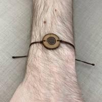 ABVERKAUF -30% handgebranntes Spirale Armband, keltischer Holzschmuck, Brandmalerei Bild 1