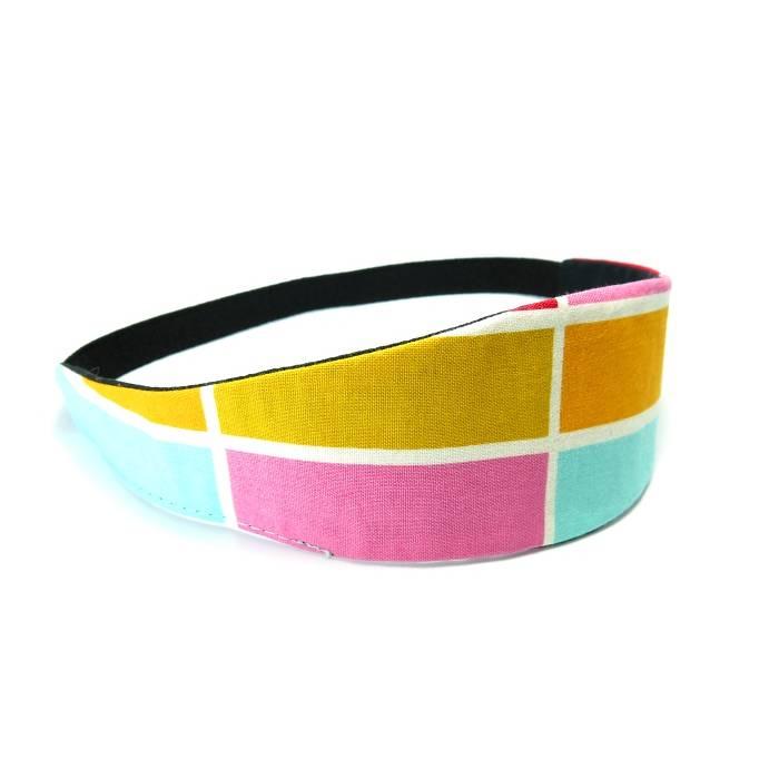 Haarband zum Wenden bunt Stirnband Abschminkband Yoga Wendehaarband Baumwolle  Bild 1