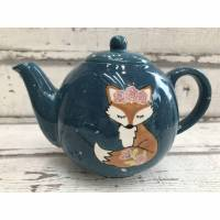 Teekanne Fuchs, 1l, Keramik handbemalt Bild 1