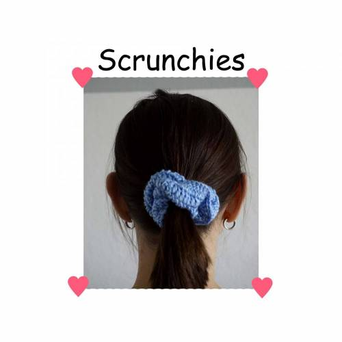 Häkelanleitung Haargummi Scrunchies