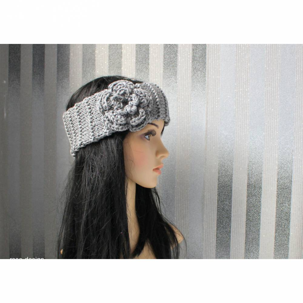 Stirnband,Vintage Style   Grey Bild 1
