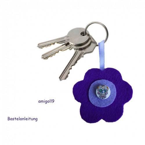 """Bastelanleitung Schlüsselanhänger """"Blume"""""""