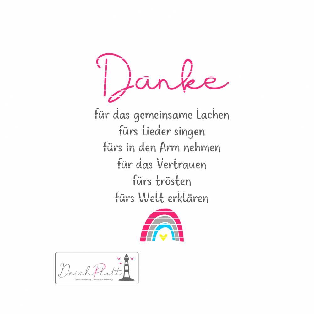 """Plotterdatei """"Danke fürs..."""", mit Regenbogen, Erzieherin, Tagesmutter, Kindergarten Bild 1"""