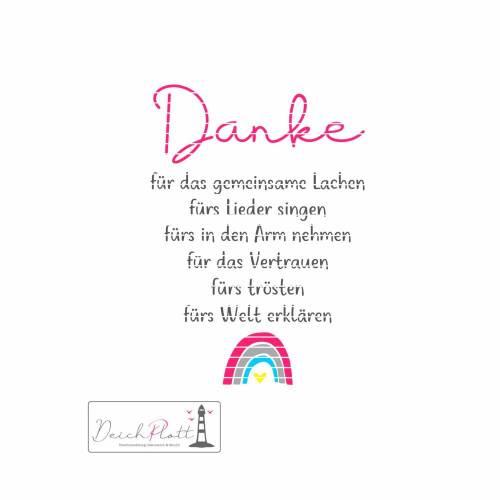 """Plotterdatei """"Danke fürs..."""", mit Regenbogen, Erzieherin, Tagesmutter, Kindergarten"""