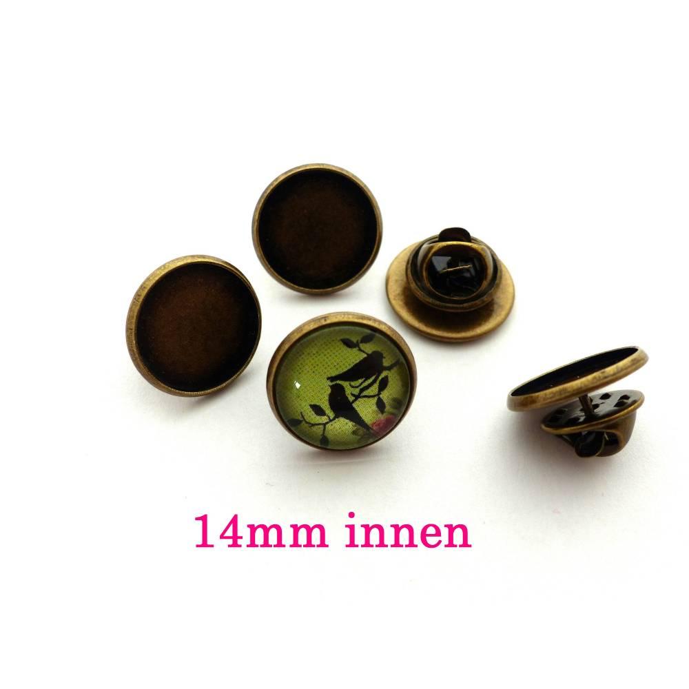 Anstecknadel / Brosche für Cabochon 14mm Bild 1