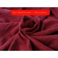 Bio Hanfjersey – Kirschrot (Vegane Alternative zu Wolle-Seide) Bild 1