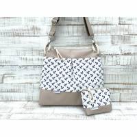 Maritime Tasche ⚓️ Jannike Set, Anker beige/weiß