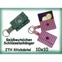 Stickdatei Geldbeutel 10x10 ITH Chiptäschchen Bild 1