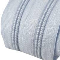 Endlos-Reissverschluss 5mm hellblau inkl. 4 Zipper Reißverschluss-Meterware