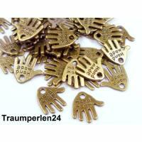 20 x HANDMADE Label Etiketten Anhänger Bronze Aufnäher Schild Handgemacht Bild 1