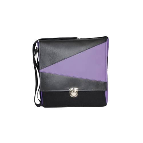 """Tasche """"TAX"""" in schwarz und lila im Geodesign mit Mappenschloss"""