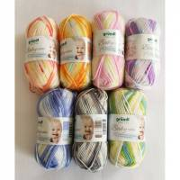 bunte Babywolle mit Farbverlauf von Gründl, 50g, Baby color Bild 1
