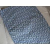 alter Bettbezug - blau weiß kariert - von alte Schätze Bild 1