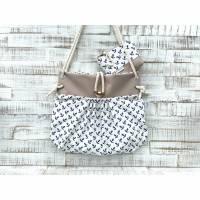 Maritime Tasche ⚓️ Smilla Set, Anker beige/weiß