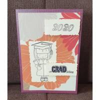 Glückwunschkarte , Abitur 2020 , Mädchen , Schulabschluss  Bild 1